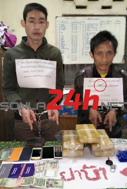 Bộ đội Sơn La và công an tỉnh Hủa Phăn phối hợp phá chuyên án ma túy lớn.