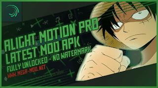 Alight Motion PRO MOD APK [FULLY UNLOCKED - NO WATERMARK] Latest (V3.6.2)