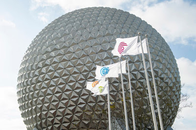 Walt Disney World Resort, WDW, New Entrance Flags at EPCOT (March, 2021)