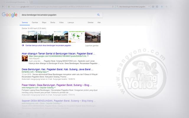 Jangan hiraukan Alexa Blogg .. Yang penting Postingan nongol di Page One Google.
