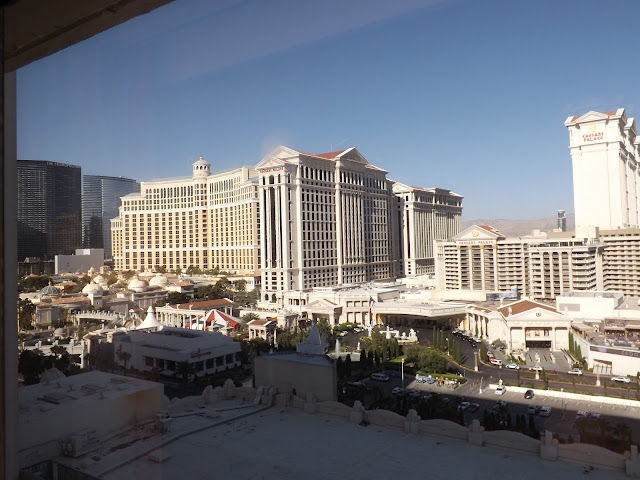 View from our room overlooking the Las Vegas strip
