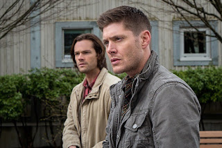 "Jared Padalecki as Sam Winchester and Jensen Ackles as Dean Winchester in Supernatural 11x20 ""Don't Call Me Shurley"""