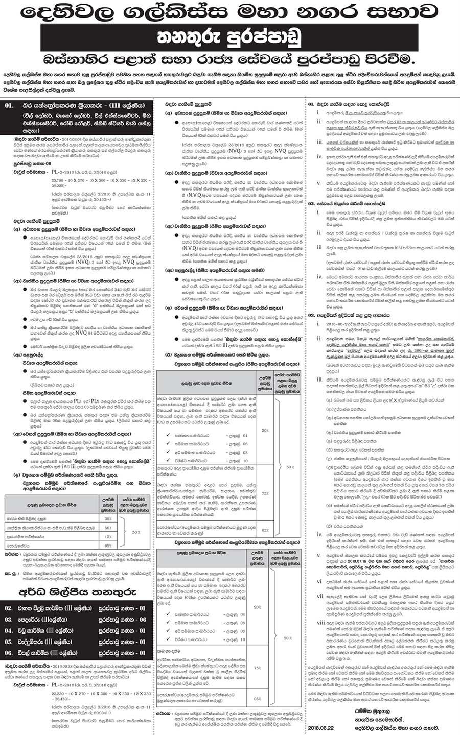 Vacancies at Dehiwala - Mount Lavinia Municipal Council