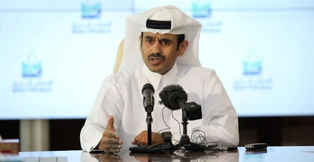 Image Attribute: Qatari Energy Minister Saad al-Kaabi during the news conference in Doha on December 3, 2018