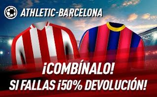 sportium promo Athletic vs Barcelona 6 enero 2021