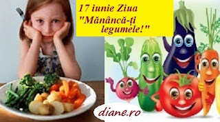 """17 iunie: Ziua """"Mănâncă-ți legumele!"""""""