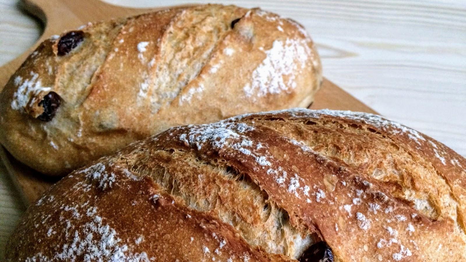 外酥內軟版的葡萄乾核桃歐式麵包