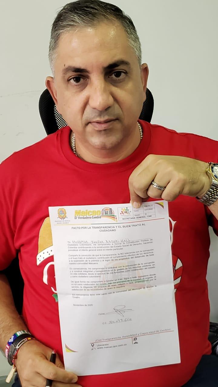 hoyennoticia.com, Maicao firmó pacto por la transparencia contra la corrupción
