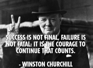 Churchill Failure Success Quote