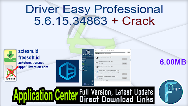 Driver Easy Professional 5.6.15.34863 + Crack _ ZcTeam.id
