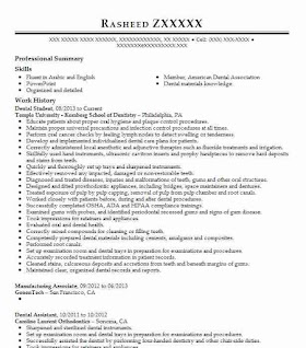 30+ Dental Student Resume