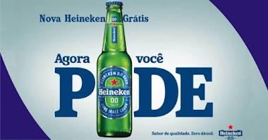 Amostras Grátis de Heineken 0.0 sem álcool nos pedidos acima de R$60 pelo aplicativo Rappi
