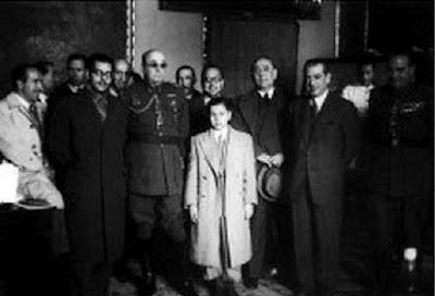 Pomar y Medina recibidos por las Autoridades al regreso del Torneo de Ajedrez de Londres 1946