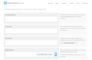 Form pendaftaran WordPress
