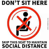 Don't sit here signage printable
