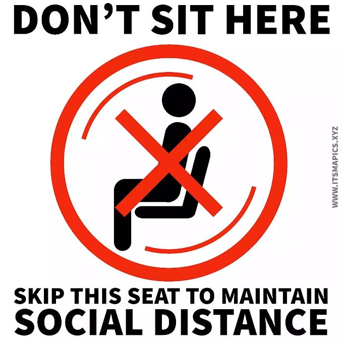 Do not Sit Here Social Distancing Images/Photo Signage - Free Download Printable as Sticker