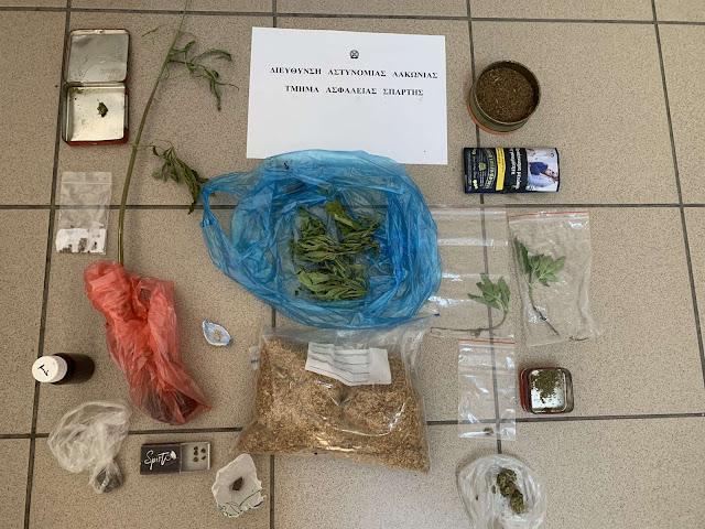 Τρεις συλλήψεις στη Λακωνία - Κατασχέθηκαν δενδρύλλια, ποσότητες ηρωίνης και κάνναβης