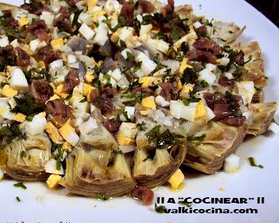 Alcachofas con anchoas a la vinagreta