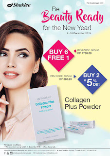 Promosi Shaklee Collagen Powder Disember 2019
