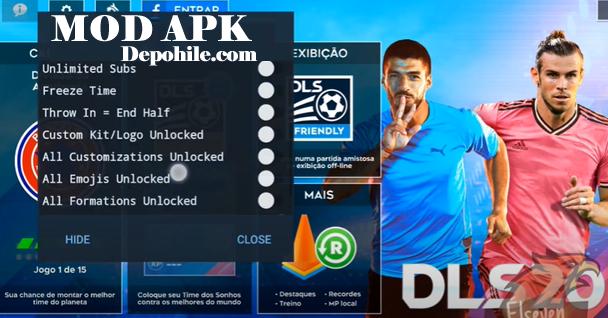 Dream League Soccer 2020 v7.41 Mod Menu Bol Özellikli Hile Apk