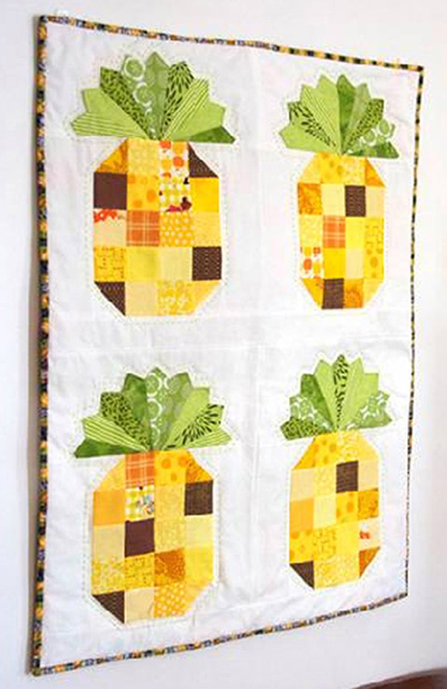 Pineapple Wall Hanging - Free Quilt Pattern