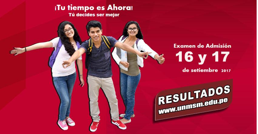 UNMSM Publicó Resultados Examen Admisión 2018-1 (16 Setiembre) Ingresantes Universidad Nacional Mayor de San Marcos - www.unmsm.edu.pe