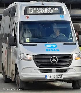 Transport CT bus 13 Auchan Km5 CET Carrefour Constanta maxi-taxi microbuz autobuz,