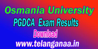 Osmania University PGDCA Exam Results Download