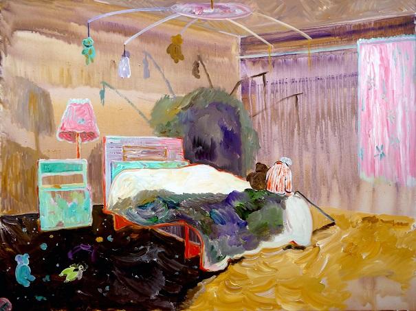 "by Xi Zhang, ""Toy Story"" - Acrylic on Canvas, 2017   obras de arte, pinturas, cuadros, imagenes chidas, tristes, bellas, cool art pictures"