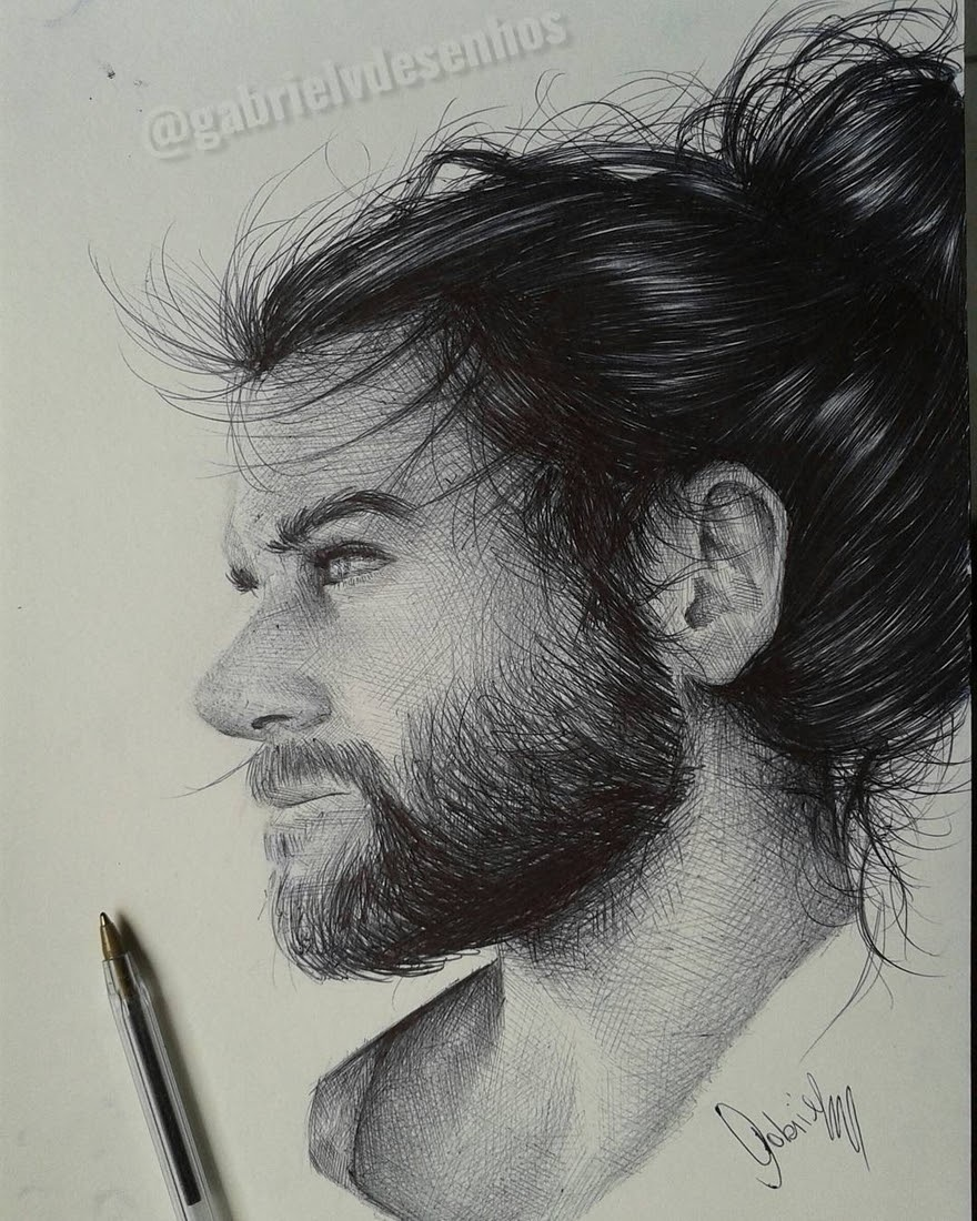 11-Gabriel-Vinícius-Black-and-White-Realistic-Ballpoint-Pen-Drawings-www-designstack-co
