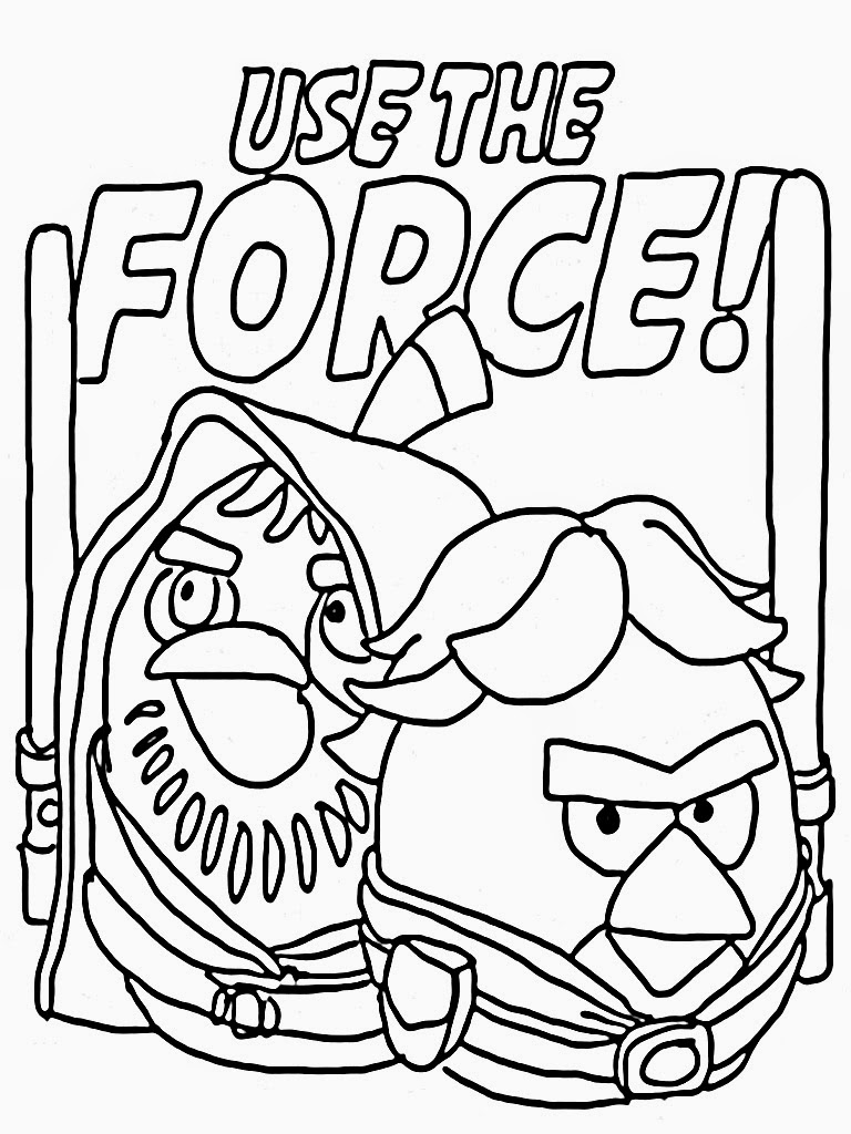 free coloring pages angry birds star wars - Angry Birds Star Wars Coloring Pages