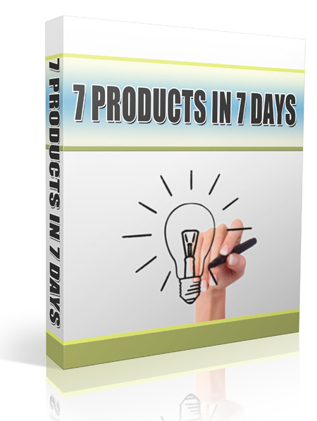 create 7 products in 7 days!