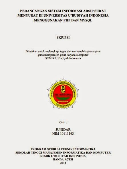 Skripsi Perancangan Sistem Informasi Arsip Surat Menyurat Di