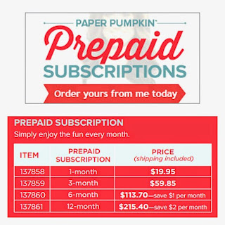Paper Pumpkin Prepaid Subscription Rate Card Image