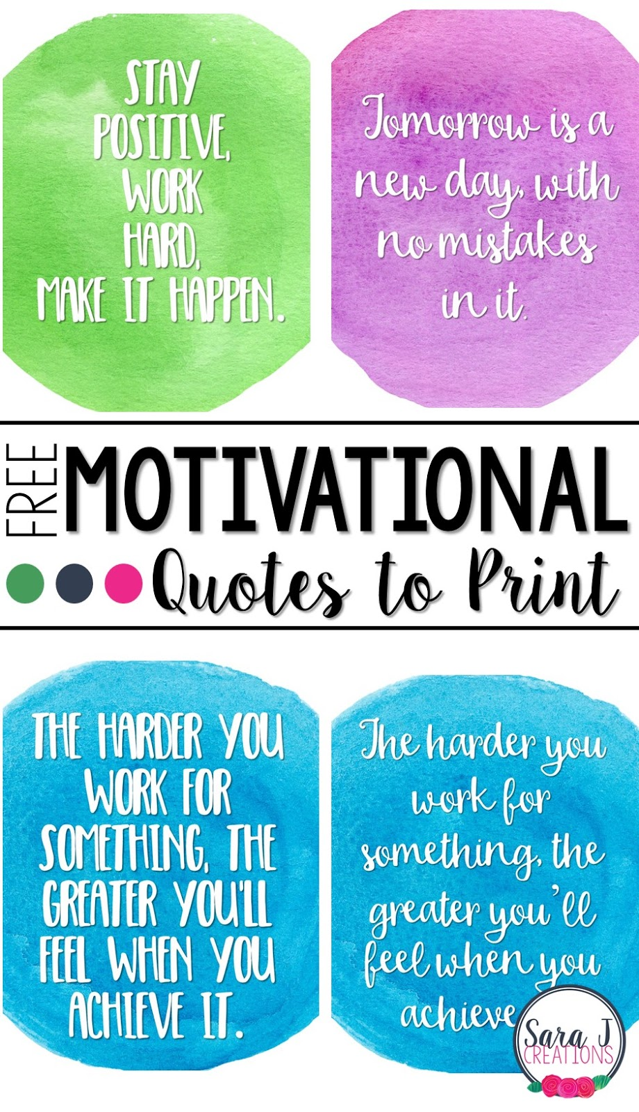 photograph relating to Free Printable Motivational Quotes known as Excess Printable Offers toward Preserve Your self Transferring Sara J Creations