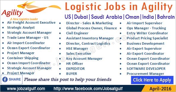 Latest Job Vacancies In Agility Us Dubai Saudi
