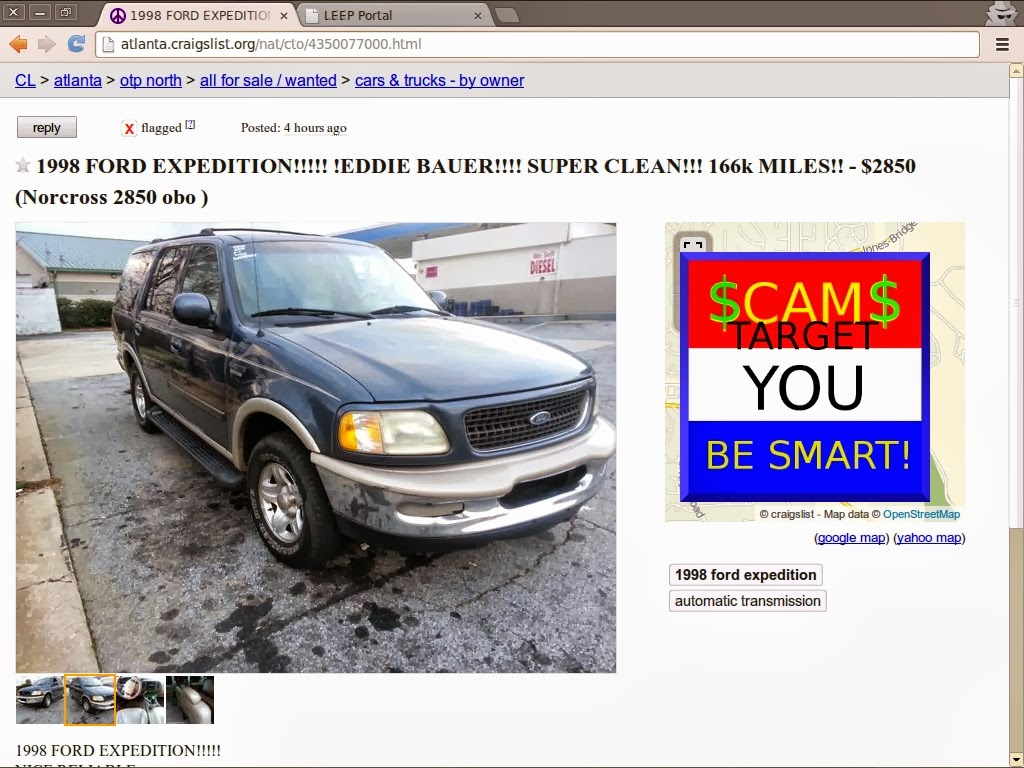 SCAM ADS! Updated for 02/25/2014 - Updated | Vehicle Scams