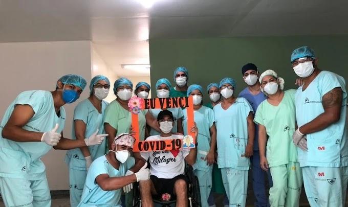 """""""Foi Deus"""": Homem intubado com Covid-19 tem alta após vigílias de oração no hospital"""