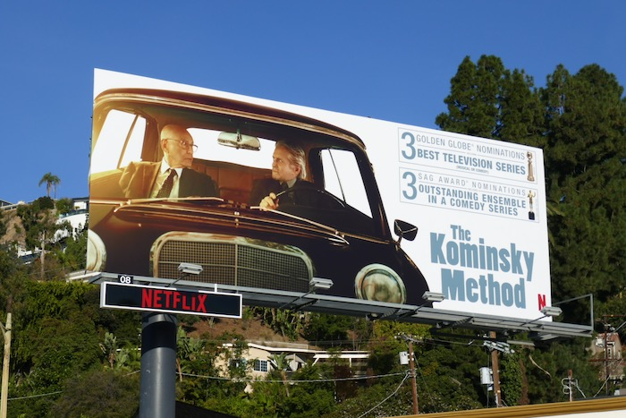 Kominsky Method season 2 Golden Globe SAG Award nominee billboard