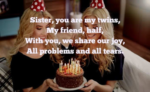 Twins Sisters Birthday Wishes