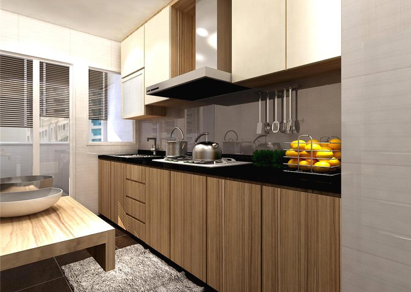 Jasa Pembuatan Furniture Custom Kitchen Set Wardrobe Di