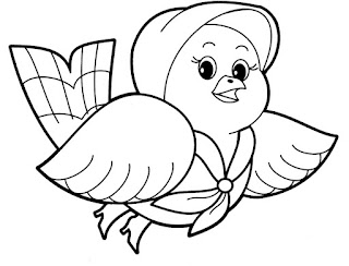 Best Spring Bird Coloring Book Page Online