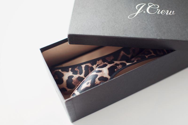J.Crew Gemma leopard flats