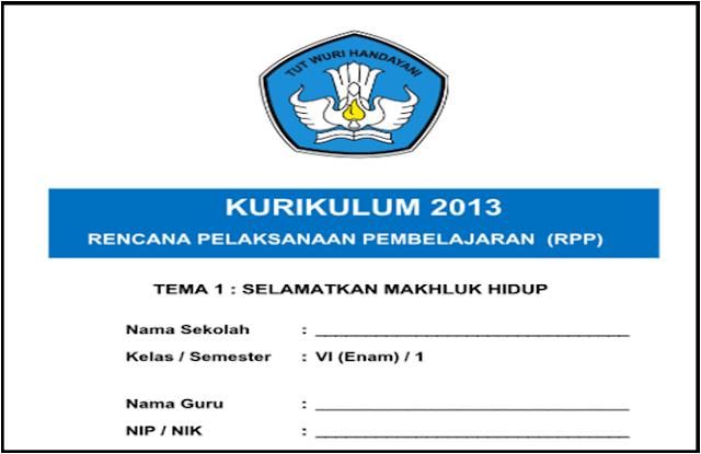 Download RPP Kelas 6 SD Kurikulum 2013 Semester 1 dan 2