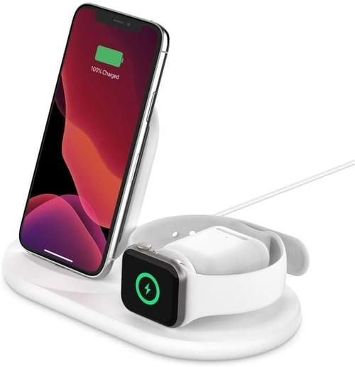 Belkin WIZ001ttWH 3-in-1 Wireless Charger