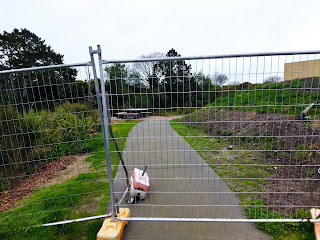 a fence across the path
