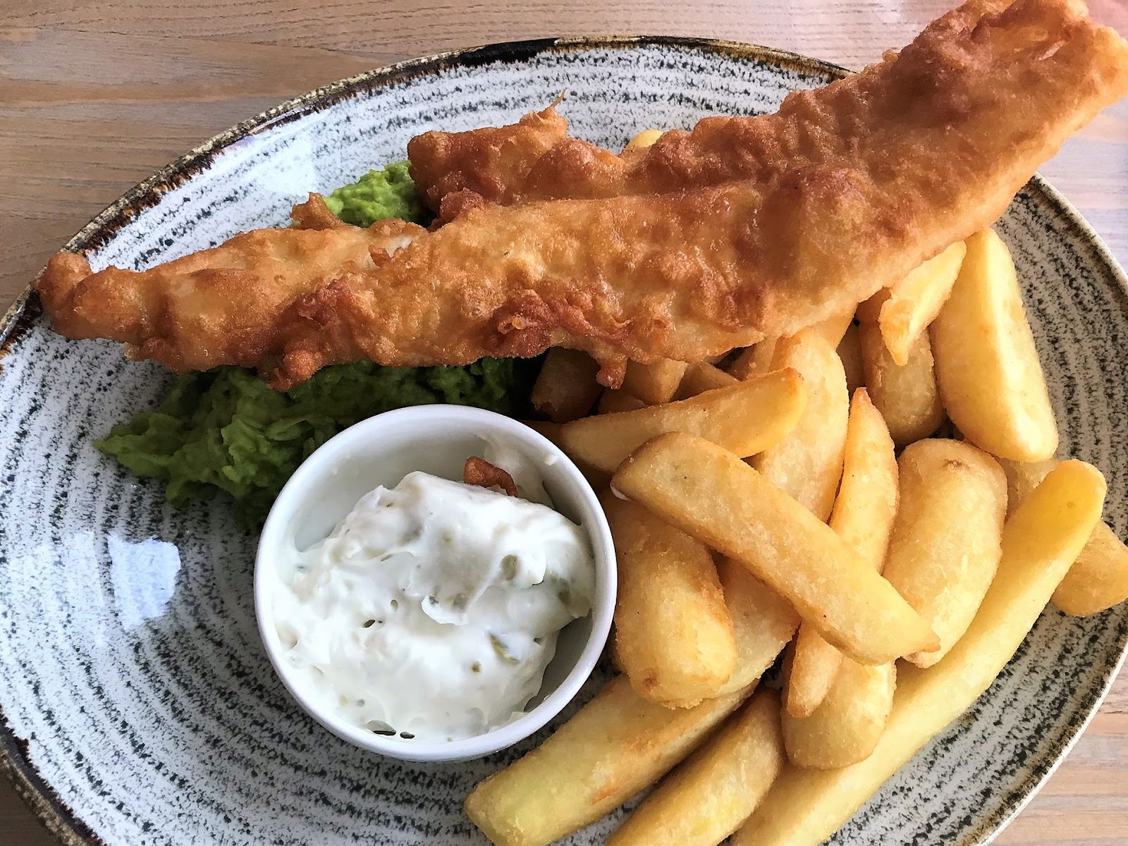 Fish and chips, The Fowey Harbour Hotel