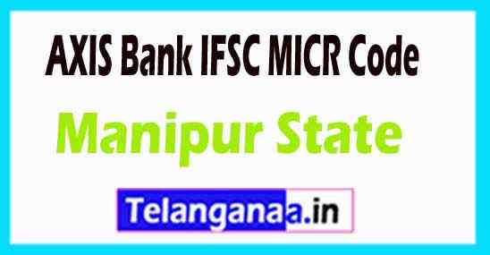AXIS BANK IFSC MICR Code Manipur State