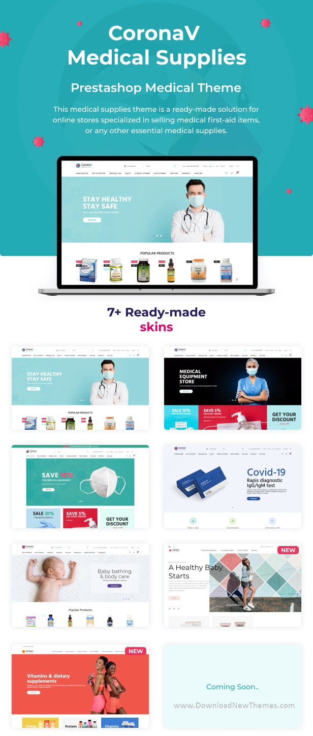 Multipurpose Medical Supplies PrestaShop Theme