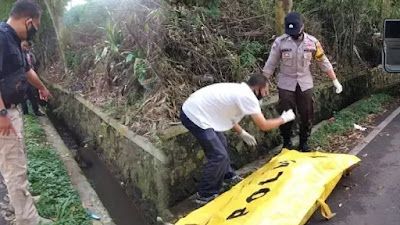 Warga Cianjur Digegerkan Penemuan Mayat di Saluran Air Jalan Raya Cugenang